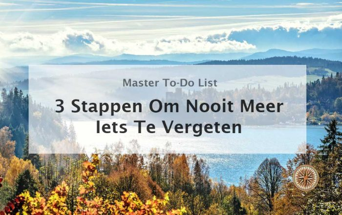master to do list