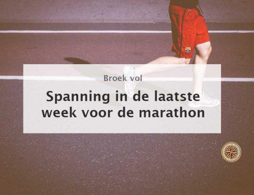 Wat voor training in de laatste week voor de marathon? – WEINIG!