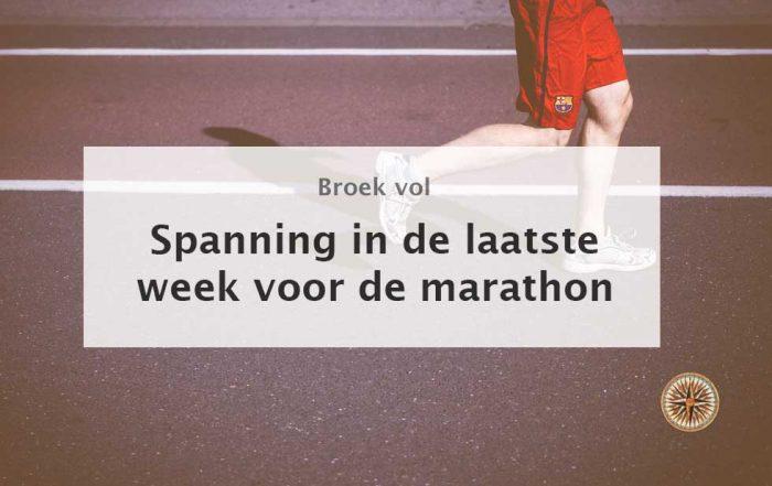 training laatste week voor marathon wanneer laatste duurloop lopen