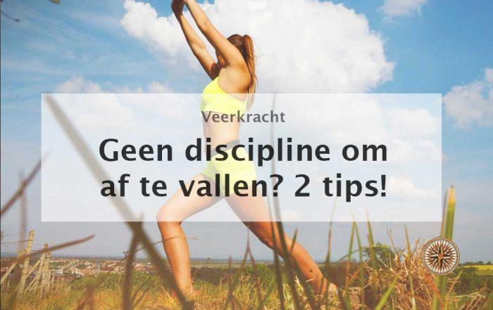 geen discipline om af te vallen 2 tips