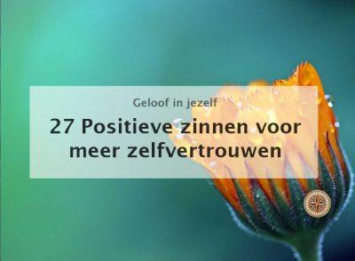 positieve zinnen meer zelfvertrouwen tips oefeningen