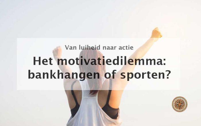 het motivatiedilemma van bankhangen naar sporten in 1 minuut