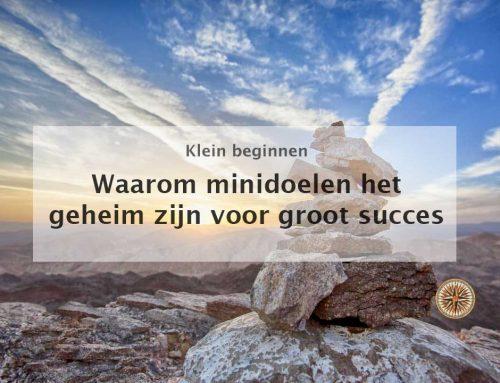 Waarom minidoelen het geheim zijn voor groot succes