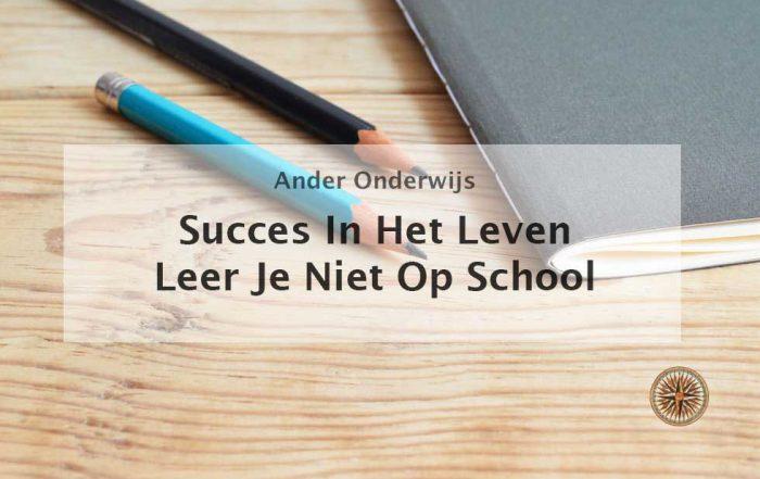 succes in het leven leer je niet op school
