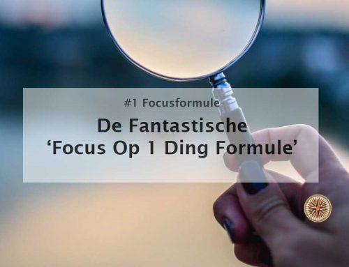 De fantastische focus op 1 ding formule