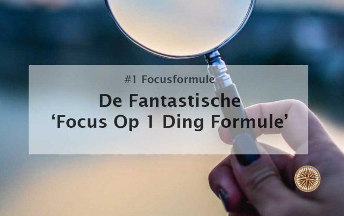 focus op 1 ding tegelijk focus formule