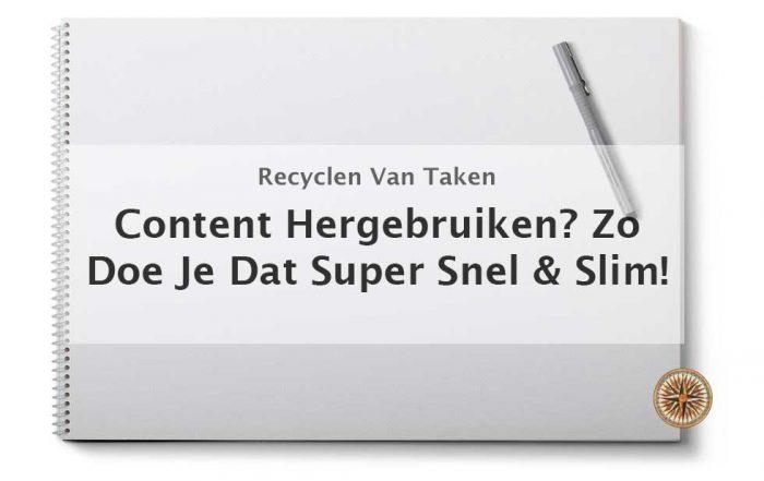 content hergebruiken recyclen online marketing content