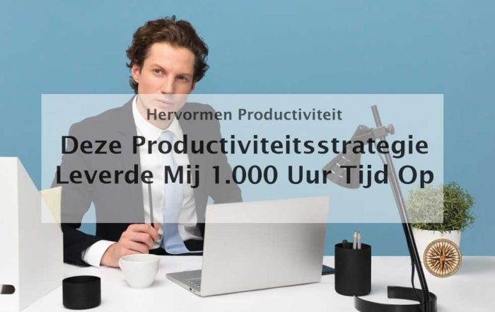 productiviteitsstrategie