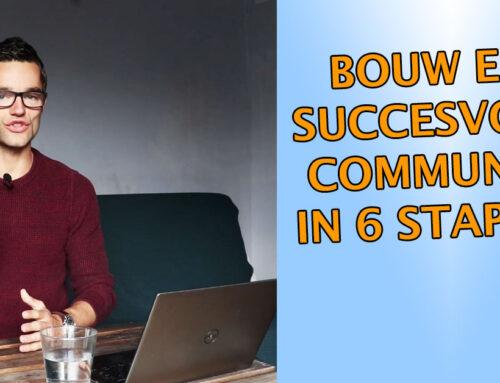 Community building? Volg dit 6 stappenplan!
